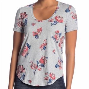 Lucky Brand All Over Roses Shirt XS